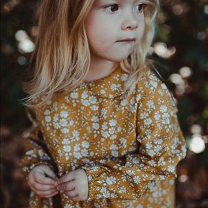 Brand New Mustard Floral Baby Girl Romper 18-24 M